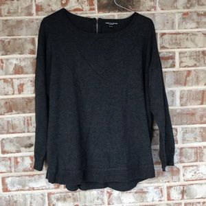 1x Charcoal Gray Cable & Gauge Sweater